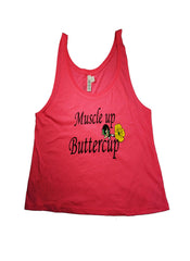 Muscle up Buttercup - Crop Top
