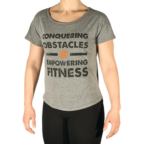 Conquering Obstacles. Empowering Fitness. Tee