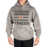 Conquering Obstacles. Empowering Fitness. Unisex Sweatshirt