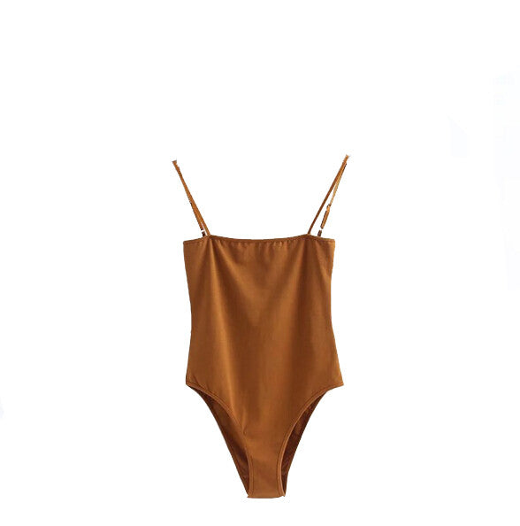 Camel Block-Out Bodysuit