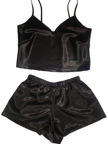 Dark Knight Silk Short Set
