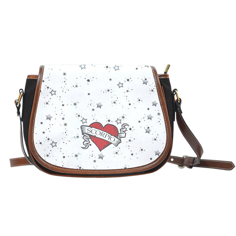 Zodiac Heart Tattoo Saddle Bag