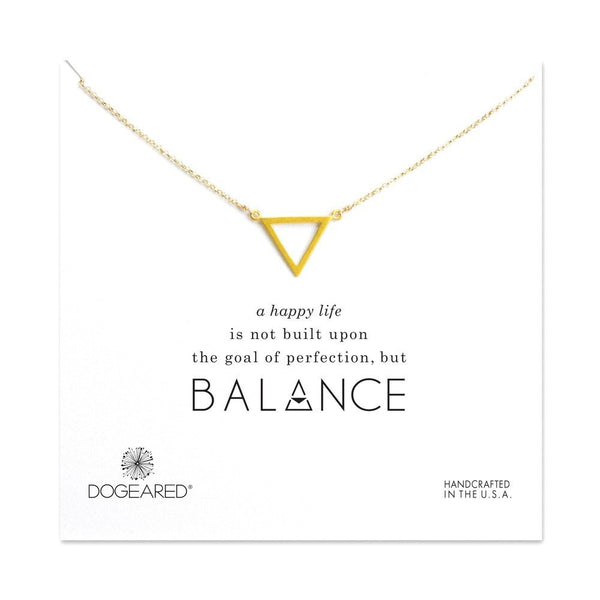 14K Gold Plated Simple Necklace with Triangle Pendant