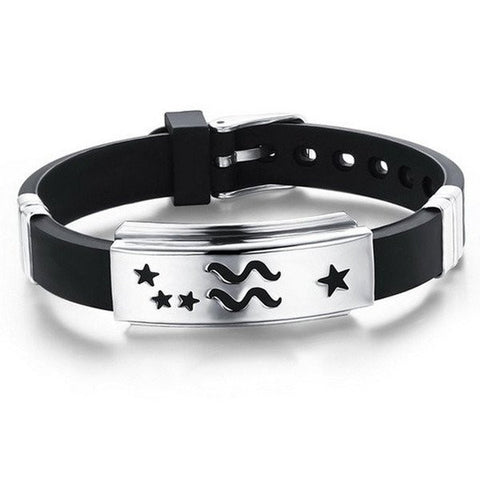 Aquarius Stylish Zodiac Bracelet