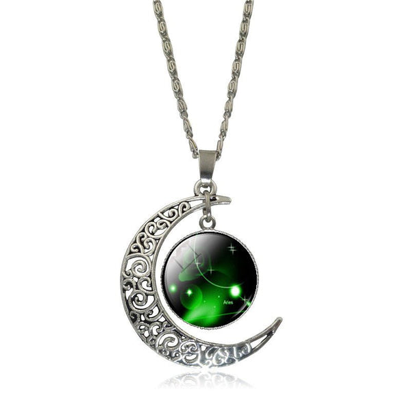 Aries Crescent Moon Necklace