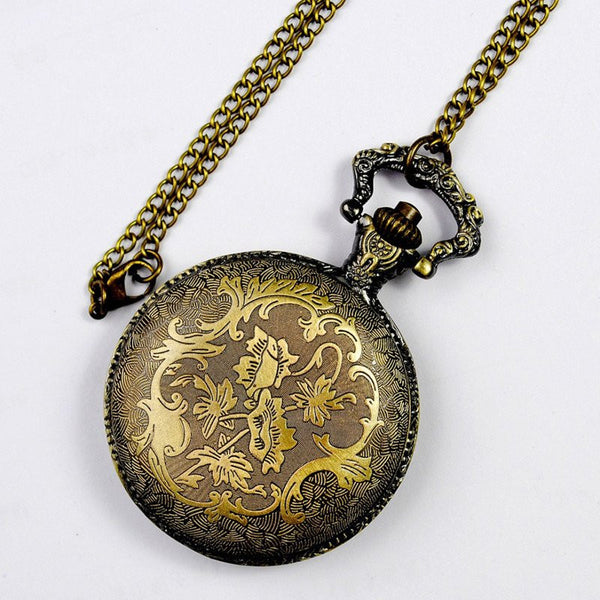 Bronze Zodiac Pocket Watch Back