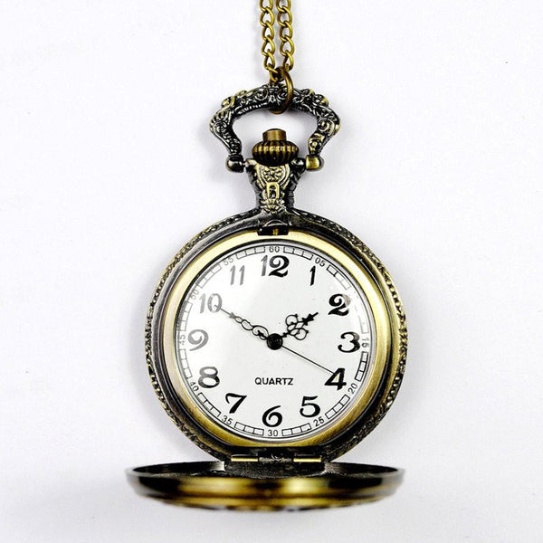 Bronze Zodiac Pocket Watch Open Face