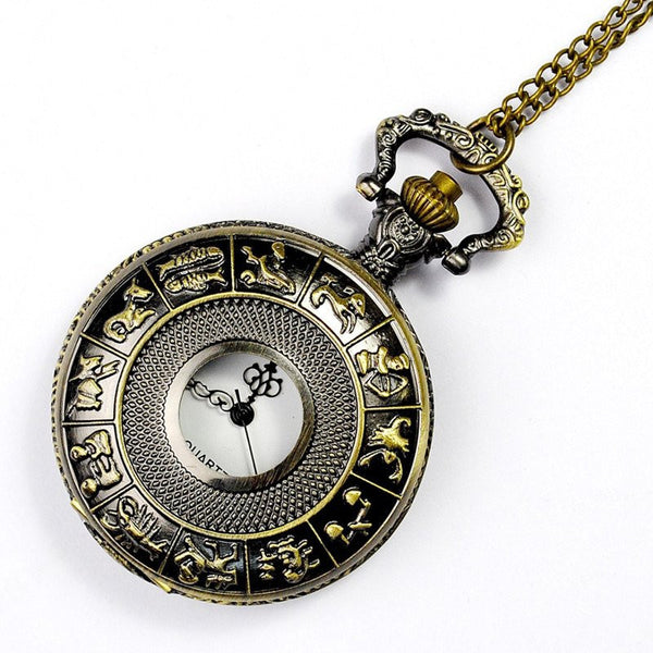 Bronze Zodiac Pocket Watch
