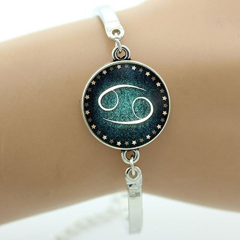 Aquarius Charm Wrist Bangle