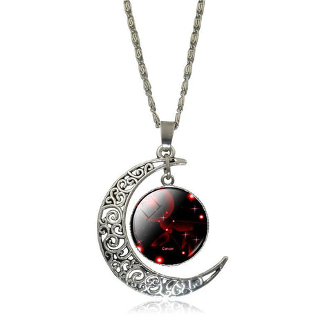Aquarius Crescent Moon Necklace