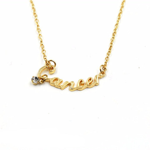 Aquarius Gold Zodiac Necklace