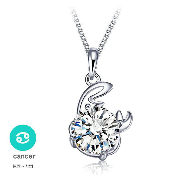 Cancer Silver Zodiac Necklace