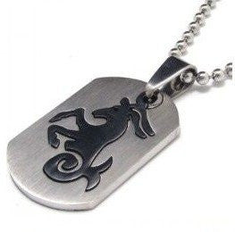 Libra Dog Tag Style Zodiac Necklace