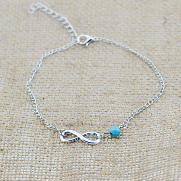 Cute and Simple Anklet with Infinity Sign detail