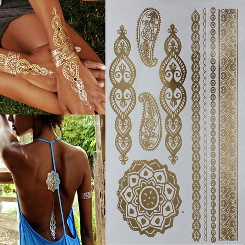 DIY Gold Temporary Flash Tattoos