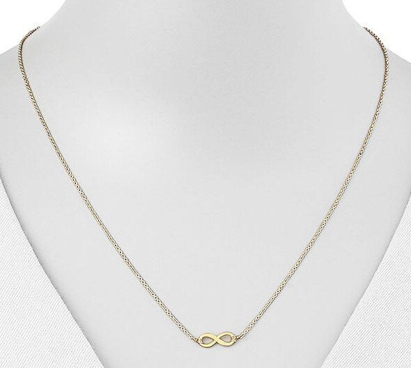 Dainty Gold Infinity Necklace Detail