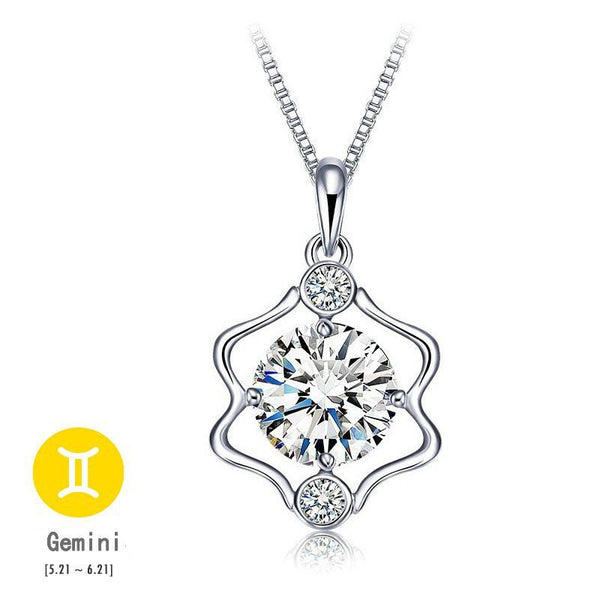 Gemini Silver Zodiac Necklace