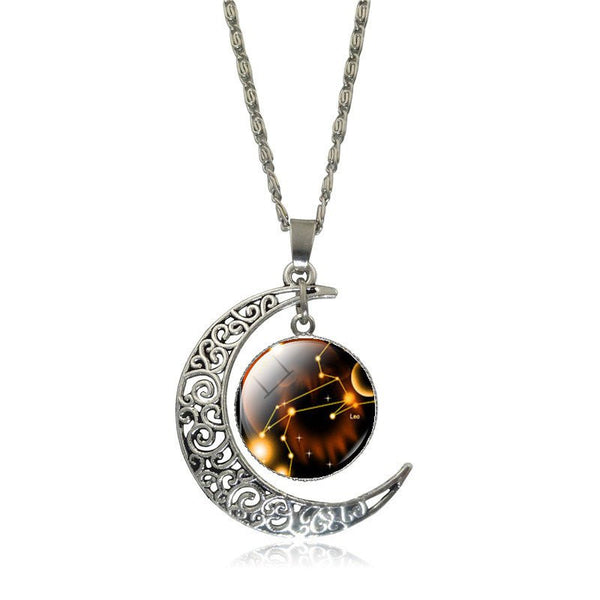 Leo Crescent Moon Necklace