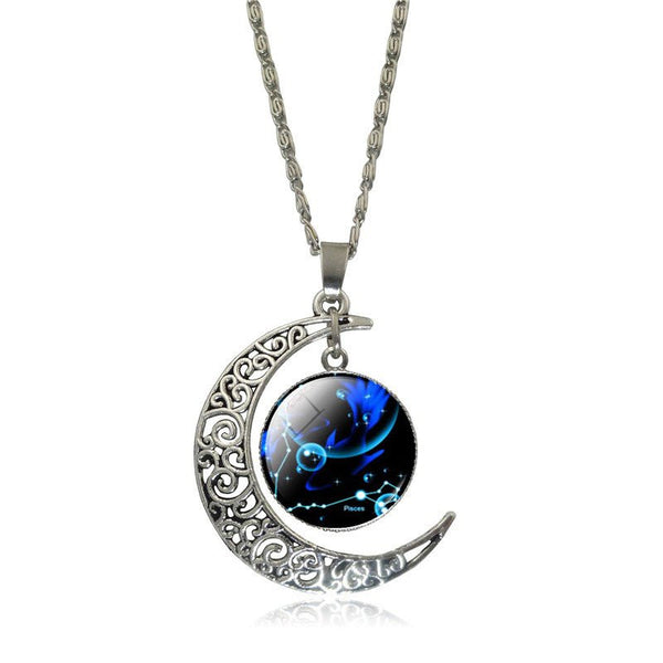 Pisces Crescent Moon Necklace