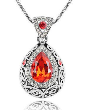 Red Guardian Gemstone Necklace