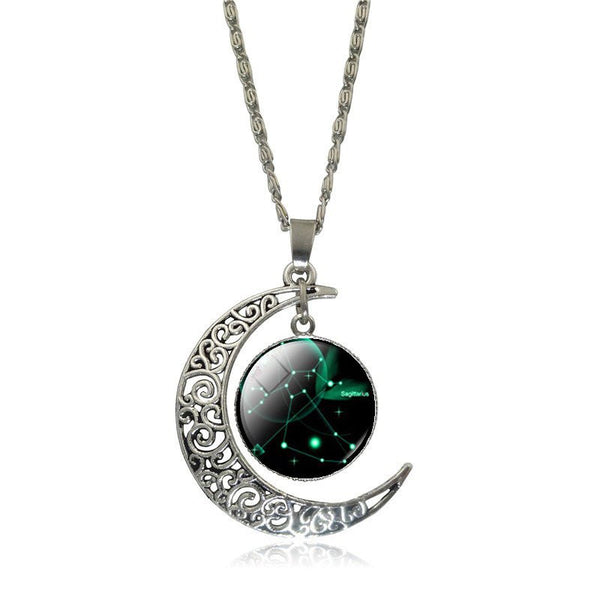 Sagittarius Crescent Moon Necklace