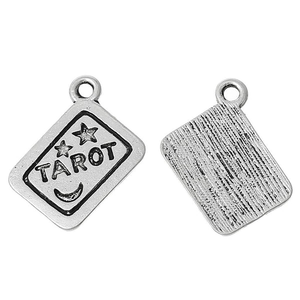 Tarot Charm Front and Back