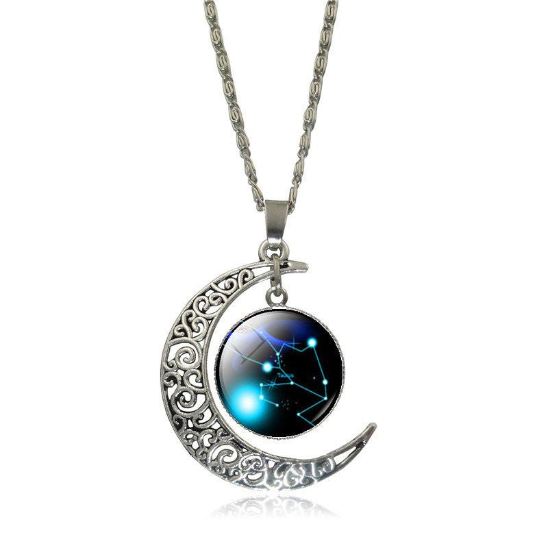 items taurus sale background gold necklace jewelry frost silver black hannah