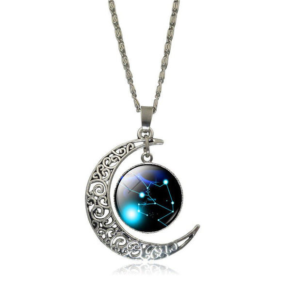 Taurus Crescent Moon Necklace