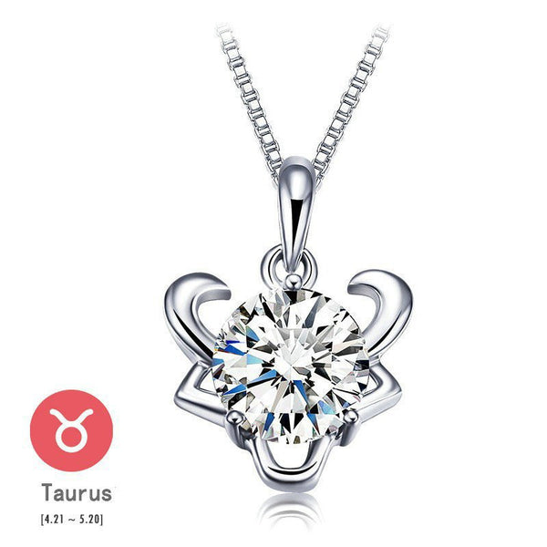 Taurus Silver Zodiac Necklace
