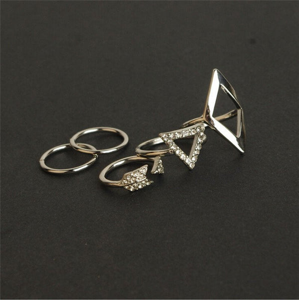 Trendy Rings and Knuckle Rings Set of 5