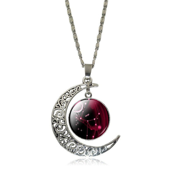 Virgo Crescent Moon Necklace