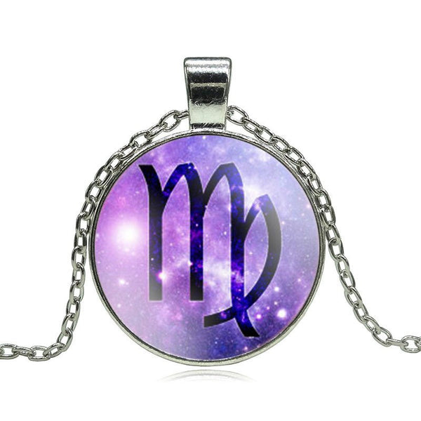 Virgo Purple Medallion Necklace