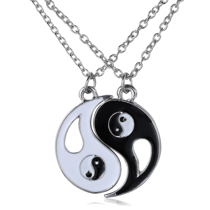 Yin and Yang Friendship Necklace