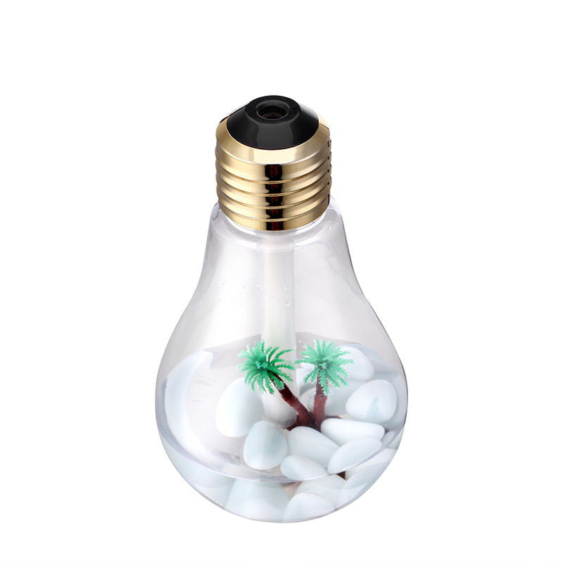 lightbulb aromatherapy diffuser - clear