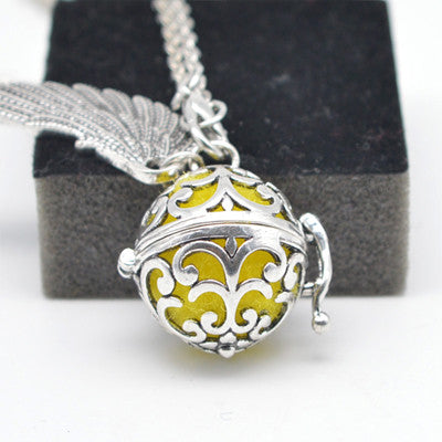 Essential Oil Diffuser Locket Sphere with  Wing