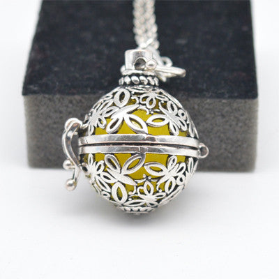 Essential Oil Diffuser Locket Sphere with clasp