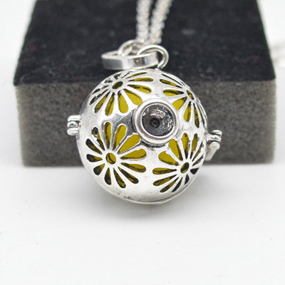 Essential Oil Diffuser Locket Sphere with jewel