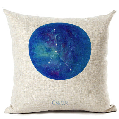 Zodiac Constellation Pillow Cover