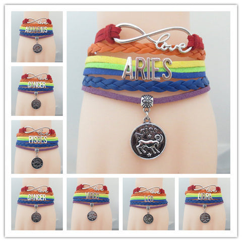 Multicolor Infinity Love Bracelet