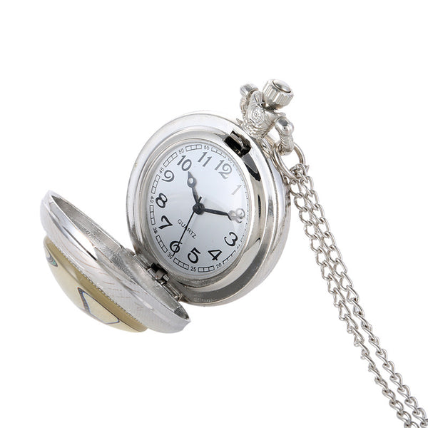Animal Sign Silver Pocket Watch