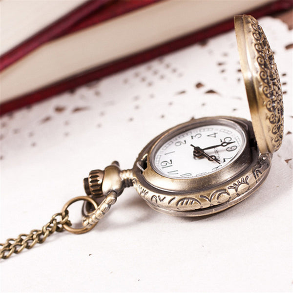Bronze Vintage Floral Pocket Watch