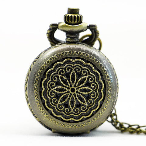 Vintage Style Flower Pocket Watch