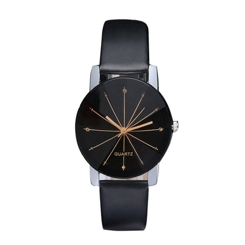 Slim Black Quartz Watch
