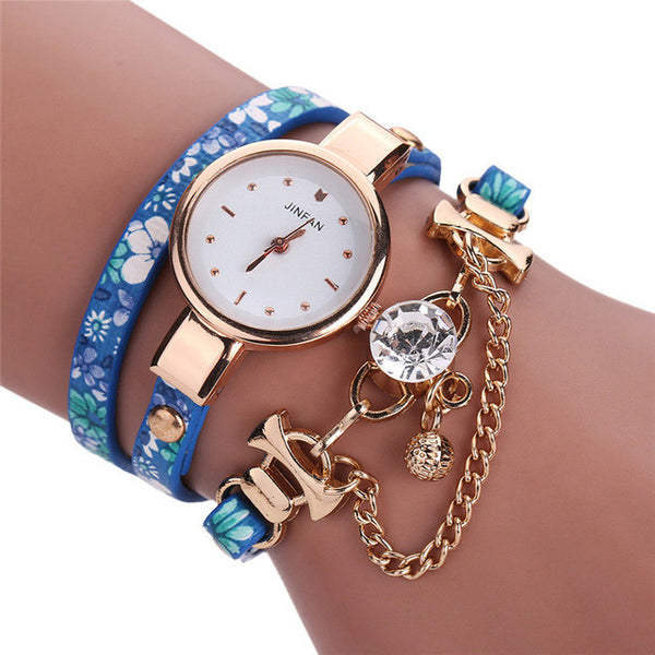 Beautiful Layered Bracelet Watch (Various Colors)