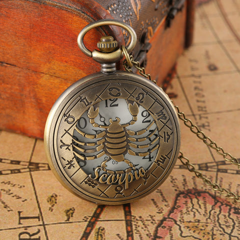 Bronze Animal Zodiac Pocket Watch