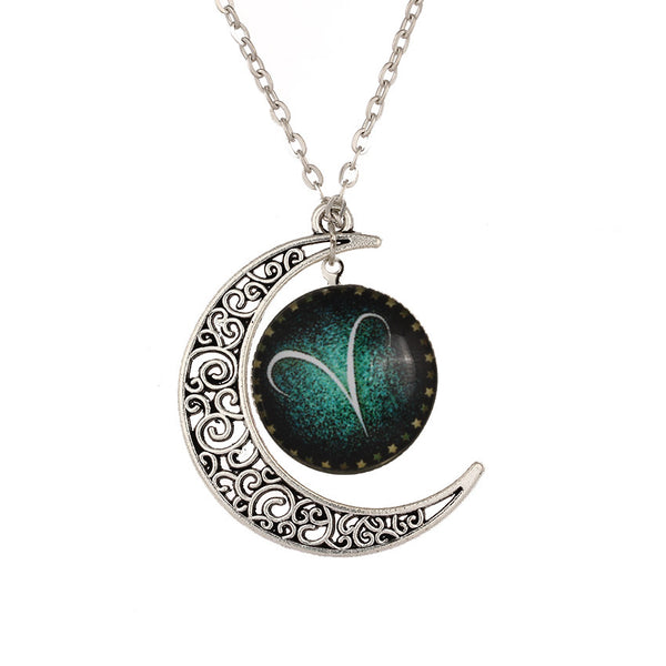 Aries Zodiac Sign Crescent Moon Neck Piece