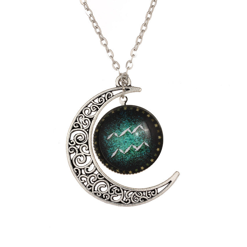 astley necklace buy clarke item online women shopping zodiac pendant aquarius