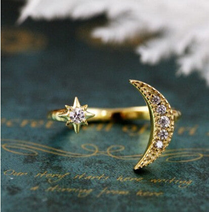Astrology Ring Jewelry sun and moon