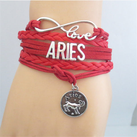 Various Infinity Zodiac Love Bracelets Astrological Jewelry