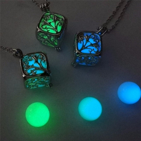 various color cube necklace
